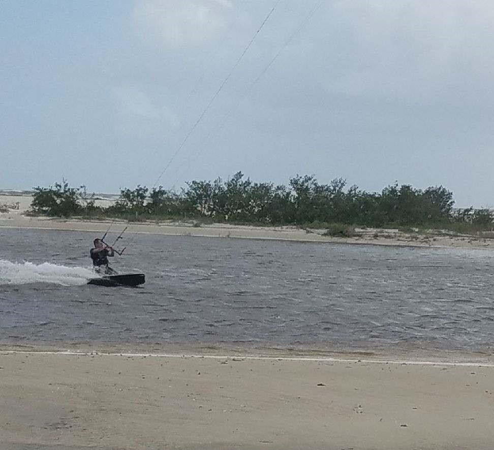 Kite Boarders on Summer Haven River 2