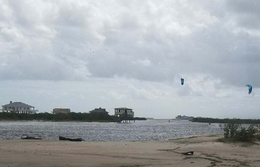Kite Boarders on Summer Haven River
